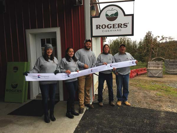 Pictured from left are the Cideryard's Courtney Spencer, Danielle Krizan, Mitch Rogers and Sam and Todd Rogers. Rogers' Cideryard is open Fridays 4 p.m. to 9 p.m. and Saturdays from noon until 9 p.m. (Photo submitted)