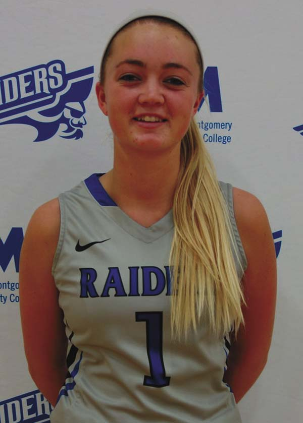 Julie Hampton of the women's basketball team was named the female Raider of the Month for December by Fulton-Montgomery Community College. (Photo submitted)