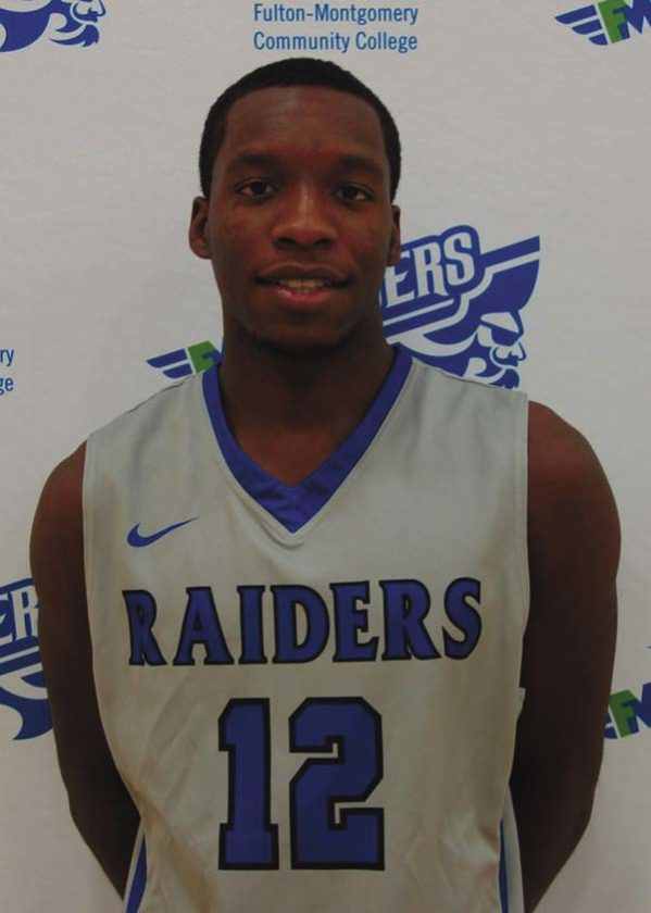 Dante Morgan of the men's basketball team was named the male Raider of the Month for December by Fulton-Montgomery Community College. (Photo submitted)