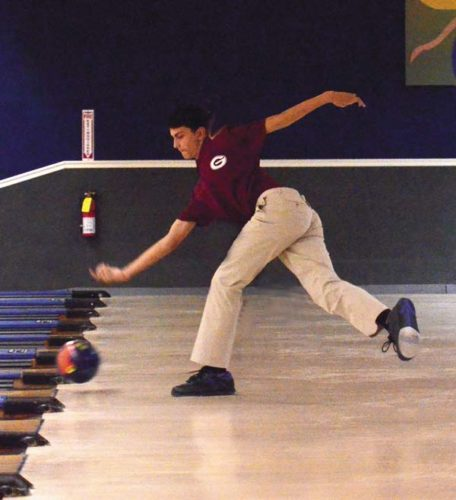 Gloversville's Mark Sgambato warms up prior to a Nov. 17 Foothills Council match against South Glens Falls at Arterial Lanes in Gloversville. Sgambato leads the local bowlers so far this season with a 299 single. (The Leader-Herald/James A. Ellis)