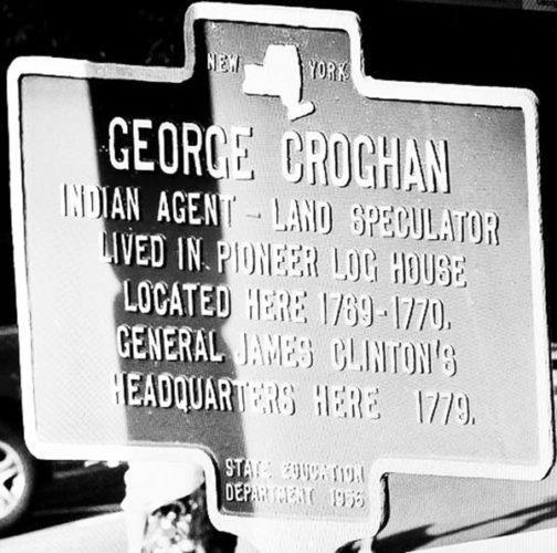 Historic marker at Cooperstown proves Croghan's presence there is remembered. (Photo courtesy of Peter Betz)