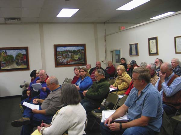 Residents of the Town of Glen are pictured during the public hearing Monday for proposed zoning changes. (The Leader Herald/Briana O'Hara)