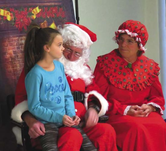 Fourth-grader Sophia Edwards puts a lot of thought into her gift request to Santa and Mrs. Claus. (Photo submitted)