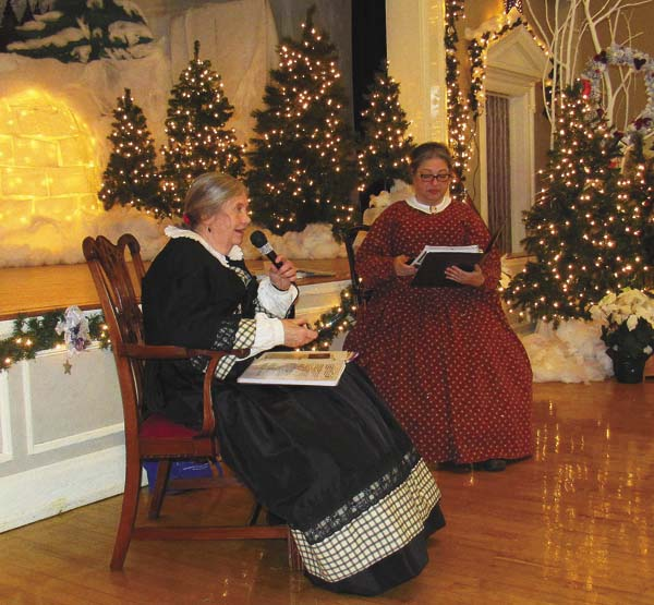 "Wanda Burch, a historian and writer from Glen, and soprano Gisella Mobtanez-Case begin a presentation titled ""Home Voices: Christmas in the Civil War through Words and Music"" Saturday at the Century Club in Amsterdam. (The Leader-Herald/Eric Retzlaff)"