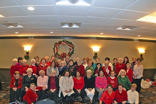 The Sisters of the Holy Spirit of the Church of the Holy Spirit gathered for their annual Christmas party on Dec. 4 at the Johnstown Holiday Inn. Pictured are the members who attended. (Photo submitted)