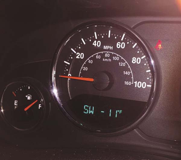 At 6:30 this morning, the temperature registered minus 11 degrees in Gloversville. (The Leader-Herald/Patricia Older)