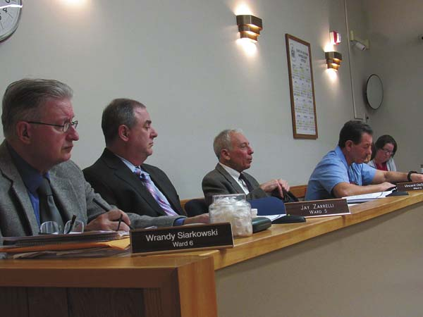 Members of the Common Council are shown during Tuesday's meeting at City Hall. (The Leader-Herald/Kerry Minor)