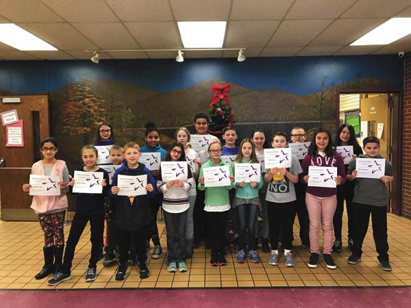 Congratulations to Warren Street students for exhibiting the character trait of responsibility.  Students nominated include Tierra Farrell, Tara Sweeney, Carter Cheney, Lilly Dittmer, Makniya McDonald, Radcliff Williams, Allyson Newkirk, Patrick Cronin, Kylie Sitterly, Leighanna Snyder, Nicholas Valachovic, Kayden Buyce, Emily Anderson, Soria Hock, David Jarabek, Madisin Winney, Ayla Naselli and Dylan Fuller. (Photo submitted)