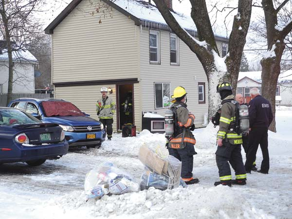 A furnace fire occurred at this home at 472 N. Main St. in Gloversville at about 8:15 a.m. today. Smokey conditions were reported and both the Gloversville and Johnstown fire departments responded. The fire was put out and no injuries were reported.   (The Leader-Herald/Michael Anich)