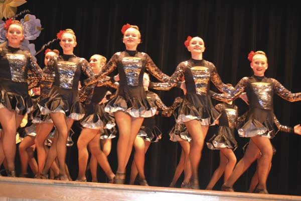 High Performance Dance Center Center dancers perform at the pageant. (The Leader-Herald/Eric Retzlaff)