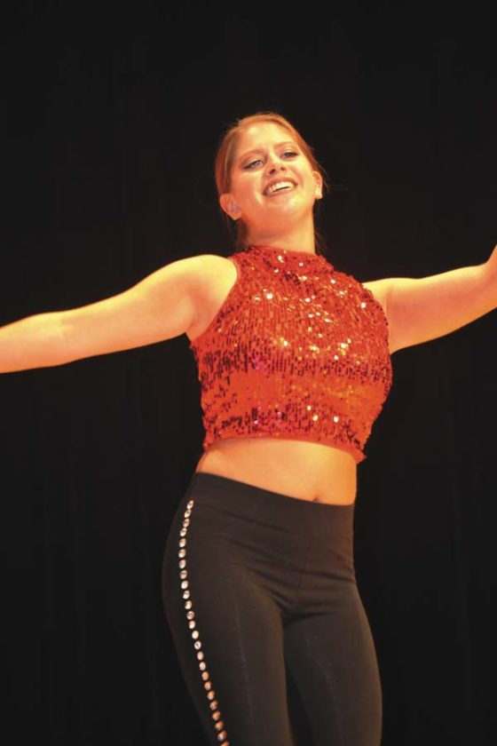 """Pageant runner-up  and talent award winner Julia Viscosi  does a tap dance to """"Fancy."""" (The Leader-Herald/Eric Retzlaff)"""