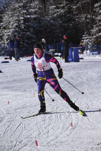 Mayfield's Emily Frasier skis during the Section VII Invitational at Mount Van Hoevenberg in Lake Placid on Monday. (Adirondack Daily Enterprise/Justin Levine)