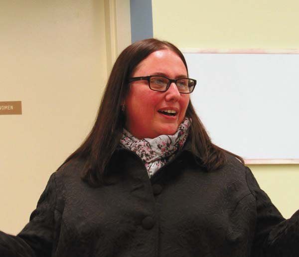Newly-appointed Gloversville Housing Authority Executive Director Heather Reynolds addresses the GHA Board of Commissioners during Tuesday's meeting. (The Leader-Herald/Kerry Minor)