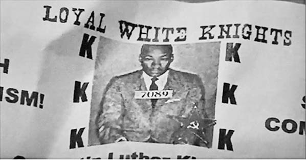 Flyers like the one pictured above were distributed Monday, Martin Luther King day, in Johnstown. (Source: Channel 10 News Facebook)