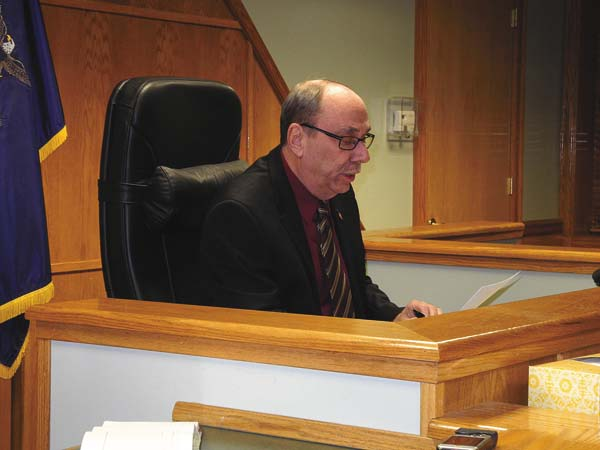 """Johnstown Mayor Vern Jackson delivers his """"State of the City"""" address at the Common Council meeting Tuesday night at City Hall. (The Leader-Herald/Michael Anich)"""