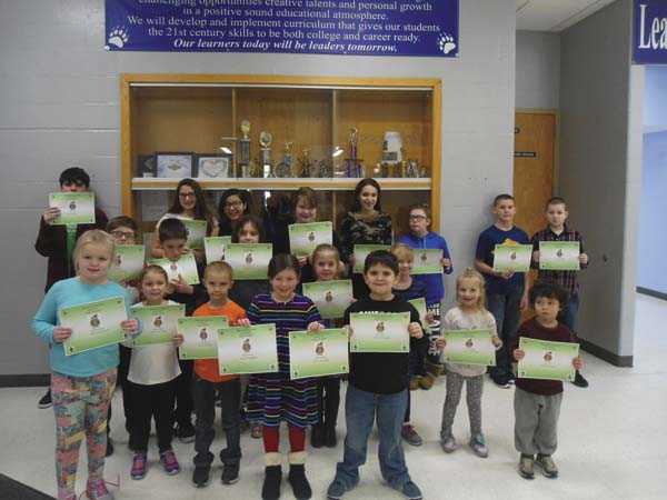December students of the month include Olyvia DeRocker, Katherine Gifford, Tucker Johnson, Embree Fielding, Hannalee Johnson, Joe Horan, Karis Ward, Georgianna Angus, Sarah Horan, Kirsten Draper,  Torin Steele, Andrew Yuenger, Aleea Fisher, Logan Bartlett,  Jacob Brown, Eleyna Rivas,  Daniel Waldvogel, Keoni Kerr, Brooke Cheney, Lauren Cernak and Arianna Christiano. (Photo submitted)