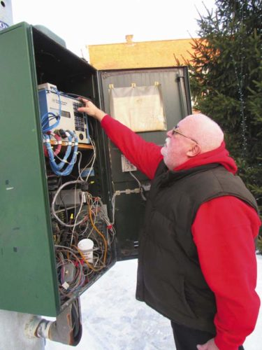 Jim Walsh, an electrician with the Gloversville Department of Public Works.  (The Leader-Herald/Eric Retzlaff)
