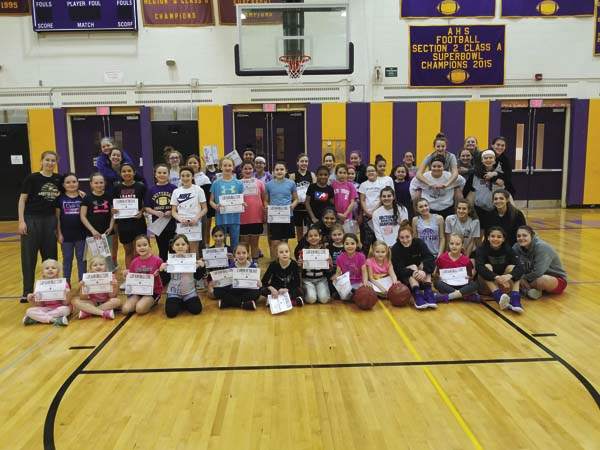 The Amsterdam Lady Rams girls basketball team is hosting youth basketball clinics. The clinics will take place today, as well as Jan.  28 at the Amsterdam High School gymnasium. The clinics, which are for girls in grades two through eight, will be free of charge and run from 10 a.m. to noon. The clinics will be conducted by the Amsterdam girls basketball program. For more information, e-mail Eric Duemler (eduemler@ gasd.org). (Photo submitted)