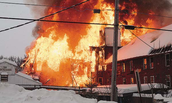 JBF Industries fire on West 11th Ave. today. (Photo courtesy of Warren Greene)