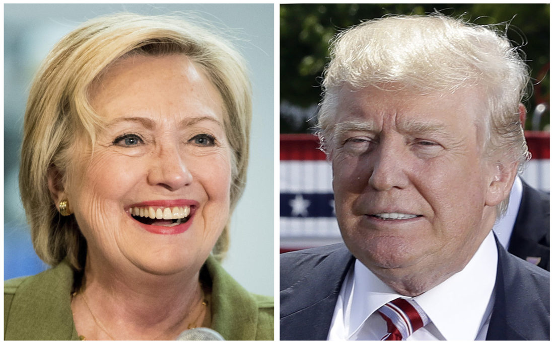 AP photo Democratic presidential candidate Hillary Clinton and Republican presidential candidate Donald Trump are shown in 2016 photos.