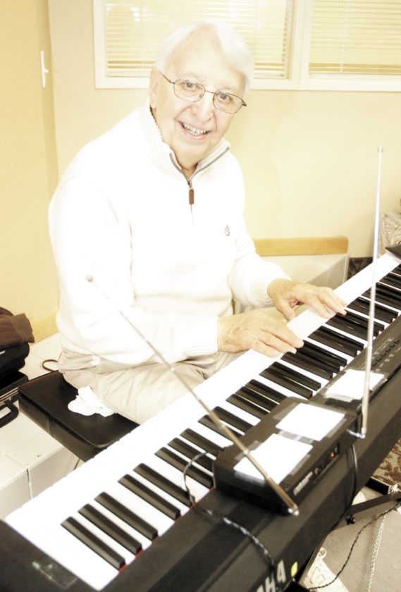 Sentinel photo by Buffie Boyer Skip Leeper plays piano at Elmcroft Senior Living in January.