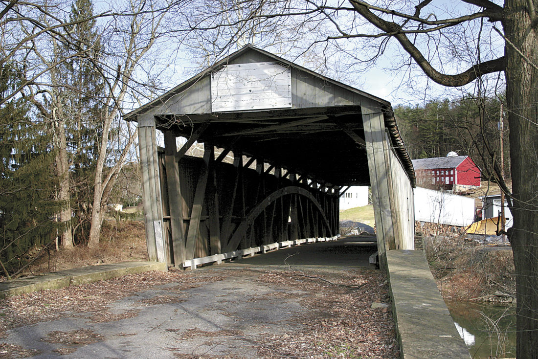 Sentinel file photo  The Dimmsville covered bridge stood for 115 years.