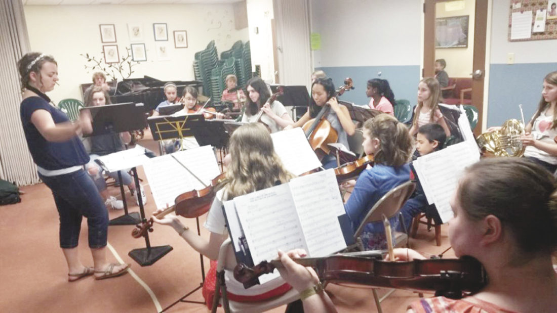 Photo submitted  The Centre County Homeschoolers Orchestra rehearses for Saturday's concert.