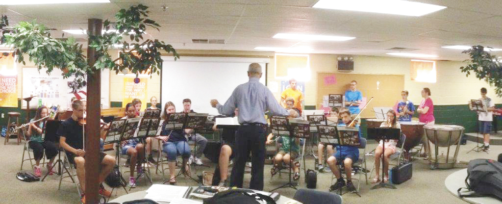 Photos submitted  The Central Pennsylvania Homeschoolers Orchestra rehearses for Saturday's concert.
