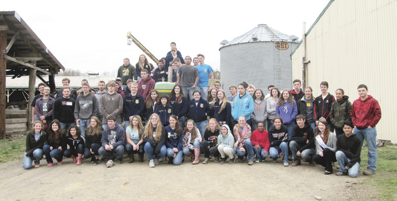 Photo by Linda Geissinger Students from East Juniata High School attended a  Rural Road Safety event at the Matter Farm April 19.