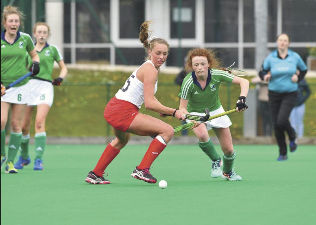 Photo courtesy of IRISH PHOTOGRAPHY Paityn Wirth, left, plays field hockey in Ireland.