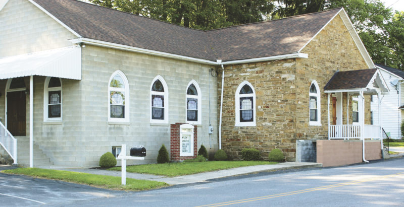 Submitted photo A current photo of Wesley United Methodist Church, in Lewistown.