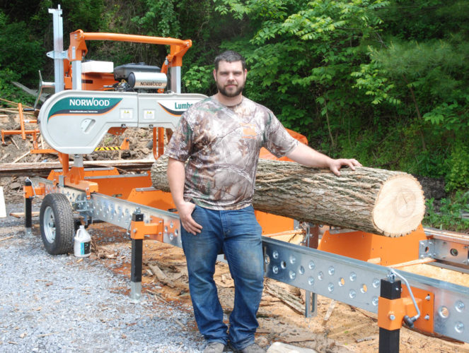 Sentinel photo by BUFFIE BOYER  Don Walters, of Alfarata, is offering portable sawmill services to the area to help make wood into something useful that may otherwise go to waste.