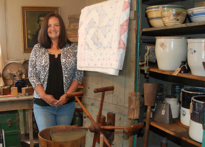 Sentinel photo by BUFFIE BOYER  Tabatha Bedlyon's new shop, Antique and Vintage Finds, is filled to the brim with  treasures to decorate your home.