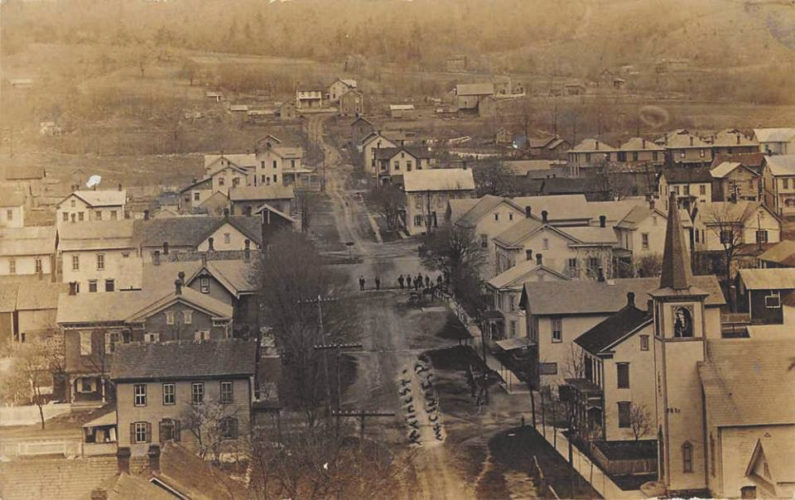 Submitted photo A view of McClure in its early years is included in the book, 'Discovering the History of McClure Borough and West Beaver Township, Snyder County,' written for the borough's upcoming sesquicentennial.