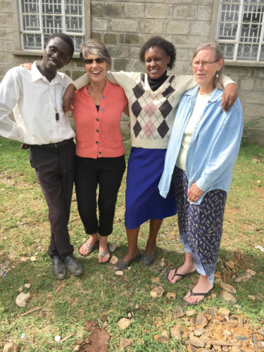 Submitted photo Pictured, from left, are Steve Destine, Ann Kanagy, Beatrice and Karen Zook. Steve and Beatrice were among 15 Kenyan leaders who participated in the DivorceCare for Kids leaders' training, held by Kanagy, Zook and Karen Goss (not pictured), in Eldoret, Kenya.