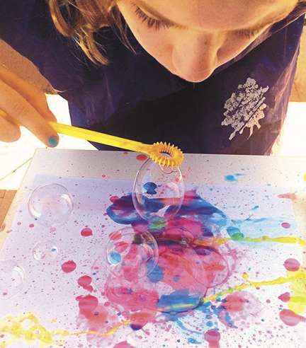 Submitted photo Create a bubble painting and other fun things at the Aug. 5 Drop-in Art program.