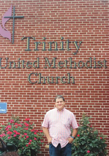 Sentinel photo by KATHRYN DIVIRGILIUS Chris Lutz, of Lewistown, is the new pastor at Trinity United Methodist Church.
