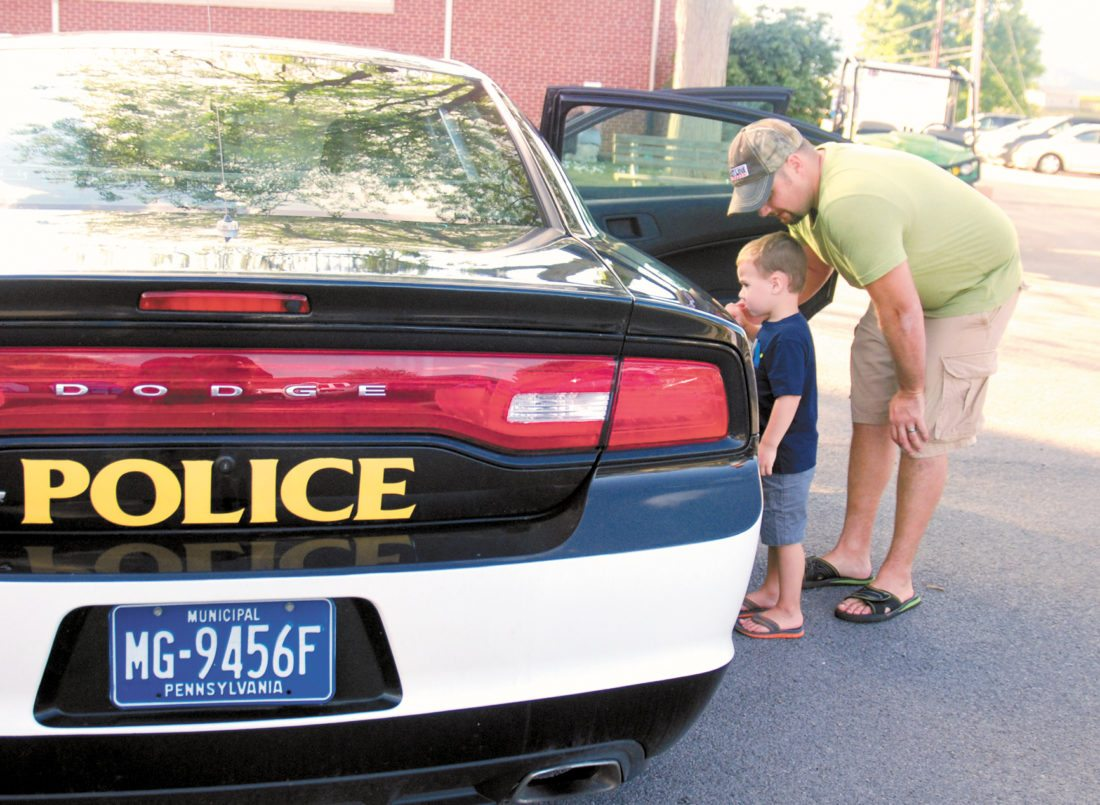 Police and Family Fun at National Night Out on August 1