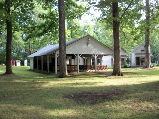 Submitted photo Music, Bible study and children's activities are underway during the annual campmeeting at Island Grove Campground, off Doe Run Road in Mexico, Pa.