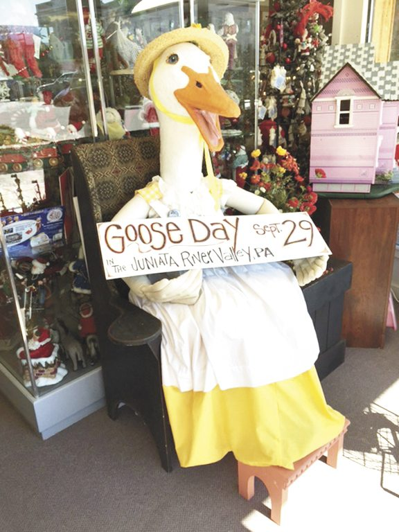Photo courtesy of the Juniata River Valley Visitors Bureau Mrs. Goose is ready for selfies with visitors at Snowflake's on the Square in Lewistown.