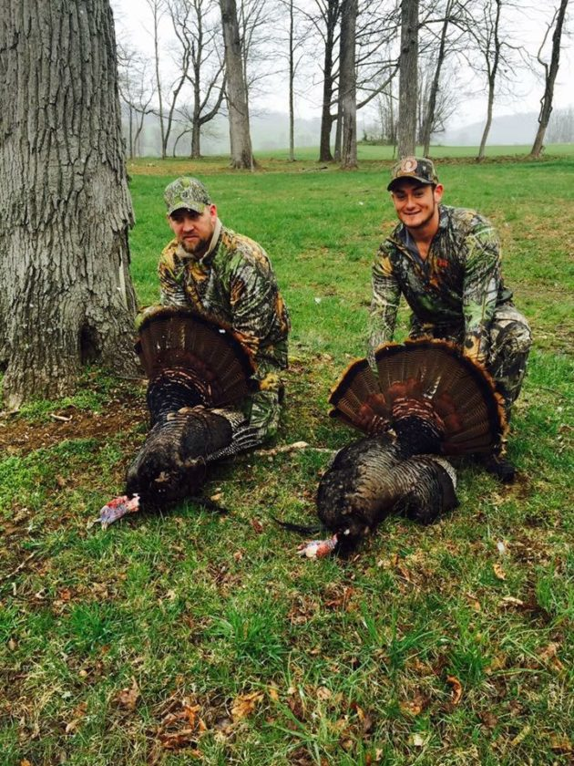 Submitted photo  Stephen Clark and Stephen Peterson enjoy a hunt for wounded veterans.