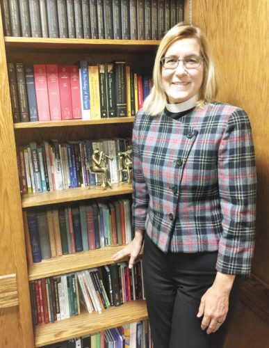 Sentinel photo by KATHRYN DIVIRGILIUS The Rev. Jerri Carlin began her career at St. John's Lutheran Church, Lewistown, Oct. 16.