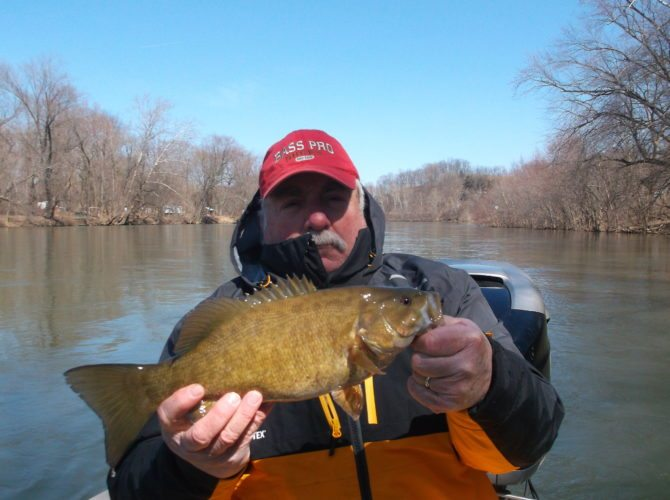 Submitted photo A winter bass trip on the Juniata River with Jason Halfpenny of Shallow Water Guide Service is an opportunity to produce some rewarding results.