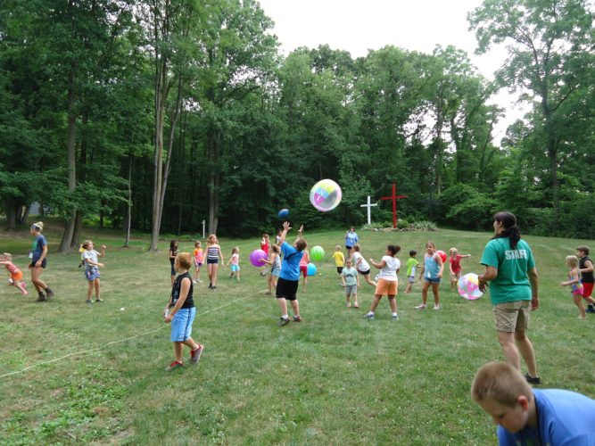 Submitted photo Children play games during a past summer camp at the PA Youth Ranch. Registration for 2018 begins April 1.