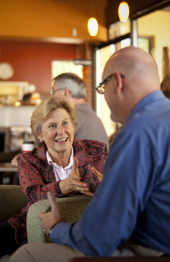 Nick Krug/Journal World Photo Lyne Tumlinson, Owner Of Career Lift, Talks  With Her Client And Lawrence Resident, Joel Wagler, Who Is Currently  Looking For A ...