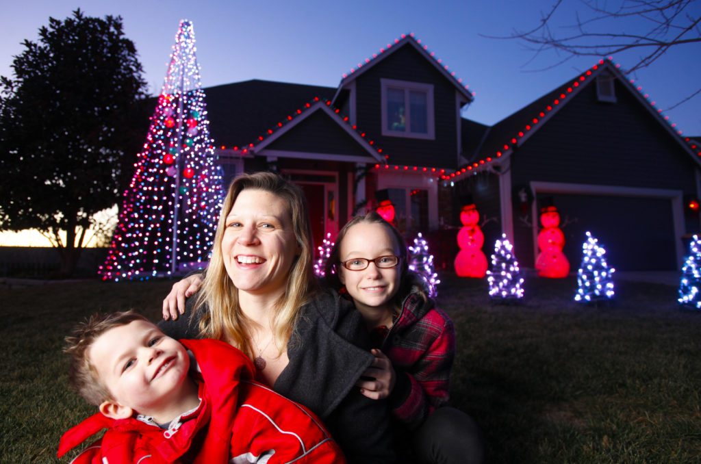 Family using Christmas lights to raise funds for Just Food | News ...