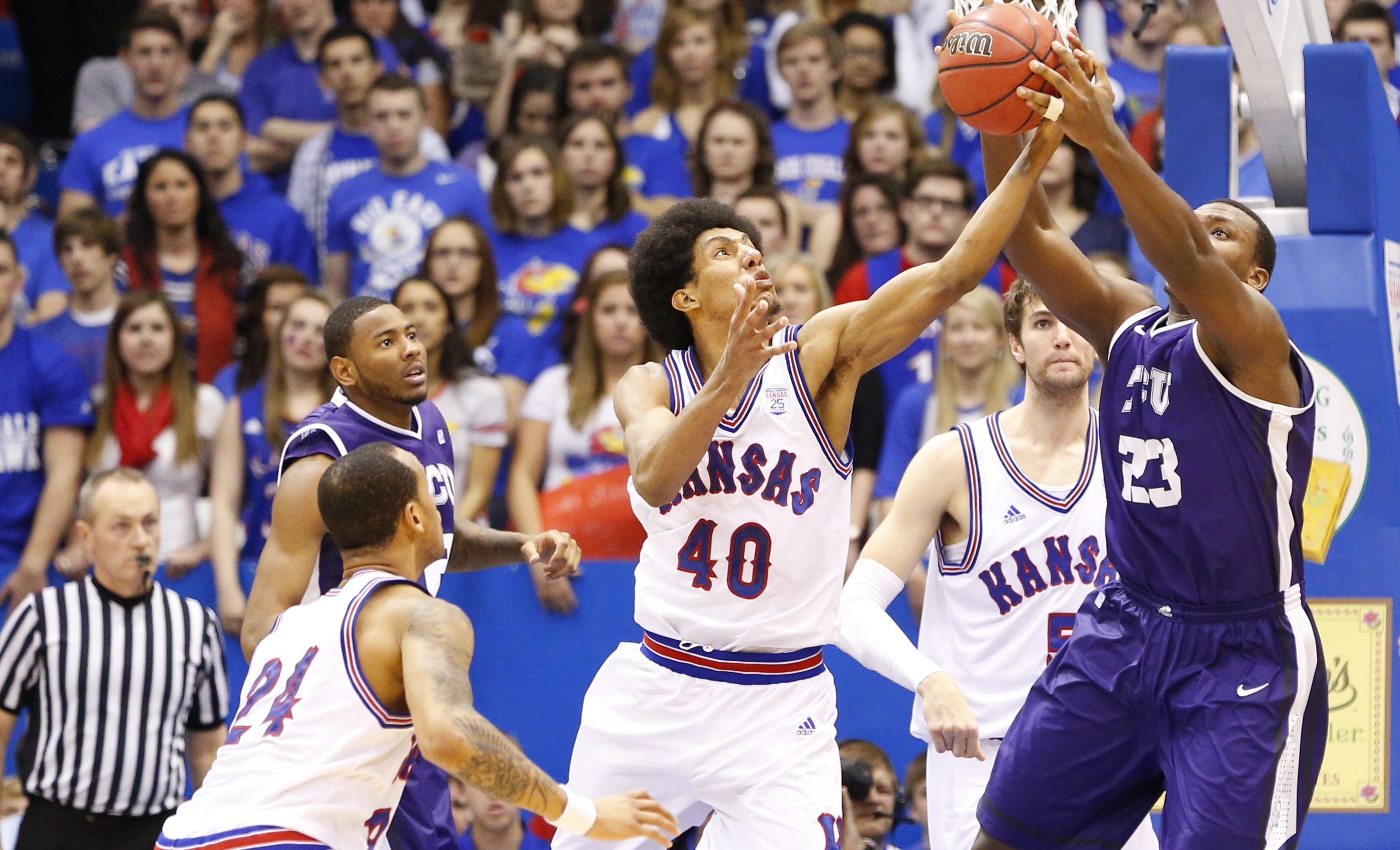 TCU coach Trent Johnson: Visiting Allen Fieldhouse 'eye-opening' experience for players | News ...