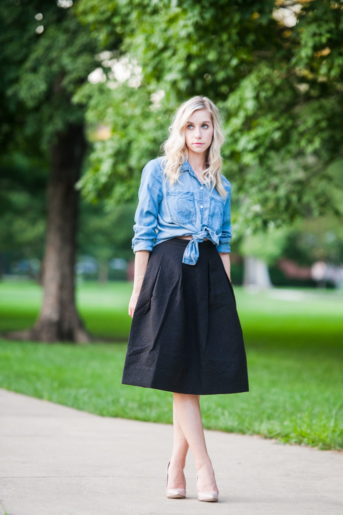 Fashion Column Twins How To Style A Black Midi Skirt News Sports