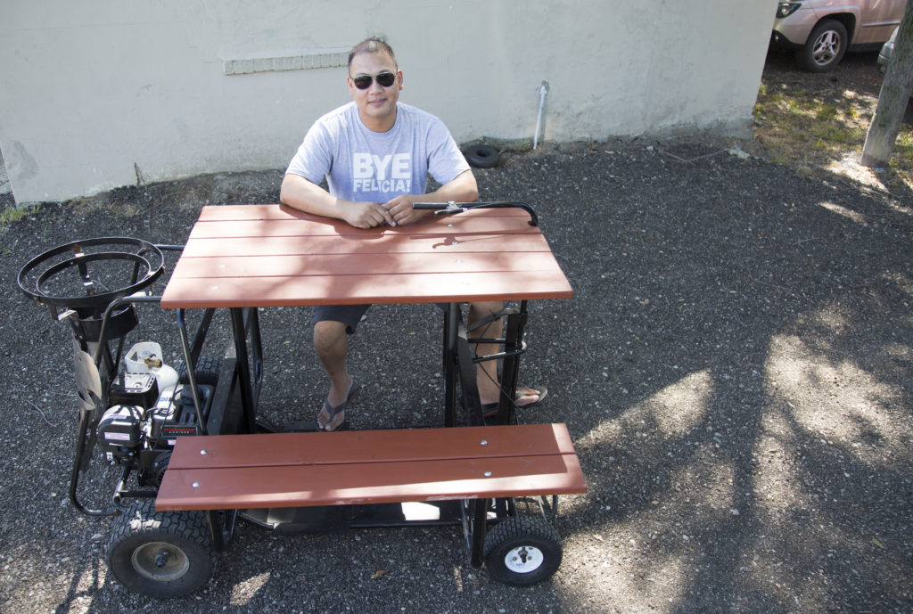 Only In Lawrence From Batmobile To Motorized Picnic Table Le Tuan - Motorized picnic table