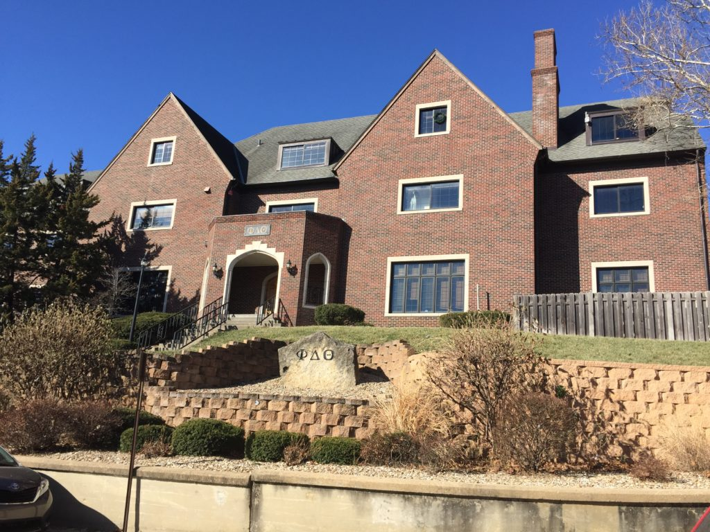 after flooding catastrophe ku fraternity at home for now in